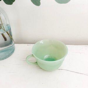 Vintage jadite tea cup